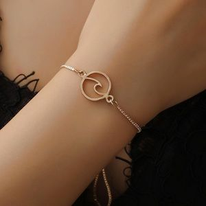 Jewelry - Wave Lobster Clasp Bracelet in Silver and Gold